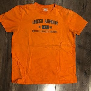 Orange under Armour T-shirt